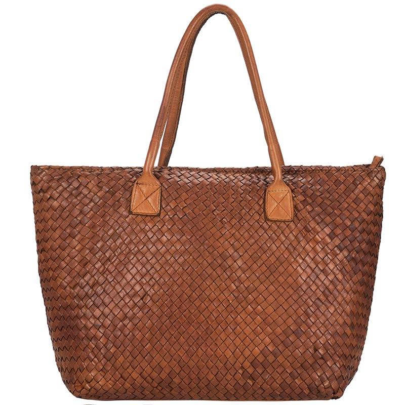 BELLA Washedwoven leather bag