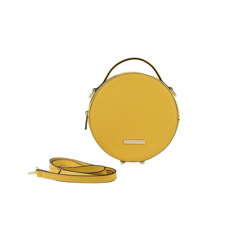 d3ed889dc IRIS - circle Italian leather crossbody bag | made in italy handbag