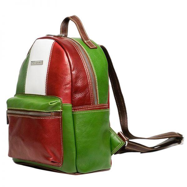 Italian handmade leather backpack